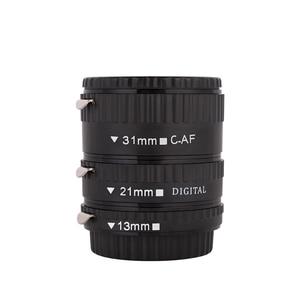 Image 2 - Kaliou 13mm 21mm 31mm Auto Focus Macro Extension Tube Set for Canon EF EF S Lens Canon 700d t5i 7d 5d Black Red Silver color