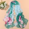 Nueva bufanda pashmina mantón de la bufanda larga de las mujeres del verano impreso Poliéster gasa del cabo tippet silenciador echarpes Bufandas YN-11