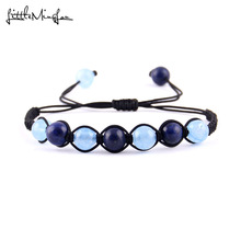 WML Nature Stone bead Bracelets For Women Brand Yoga Healing Balance Beads braided Men Gifts