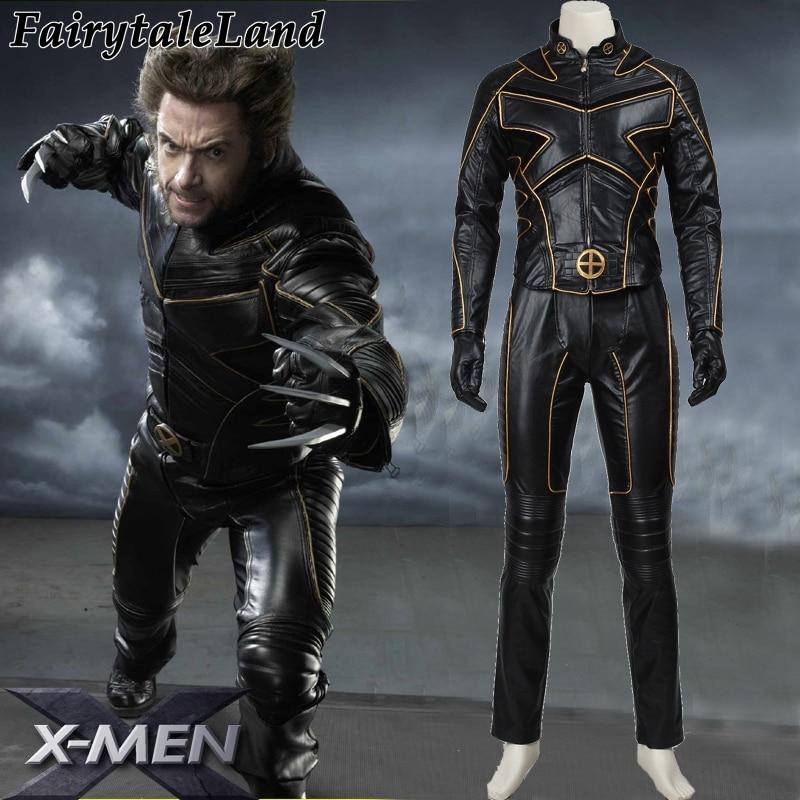 2017 halloween costumes men customized men leather costume X men Logan Cosplay Costume James Logan Howlett