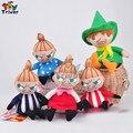 Comercio al por mayor 50 unids Japón Moomin Valle Poco Mi peluche juguetes de peluche llaveros llavero colgante Accesorios del bolso Monedero Del Bolso de regalos