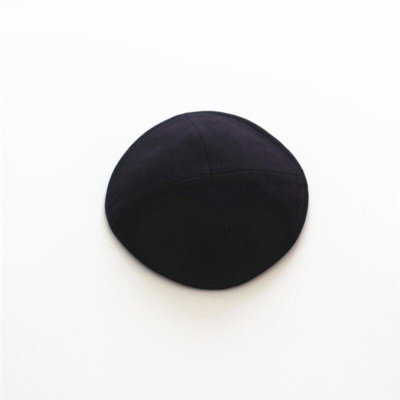 Black Kippah Jewish Solid High Quality   beanie   hat 16cm Kipot Kippot Jewish Cap