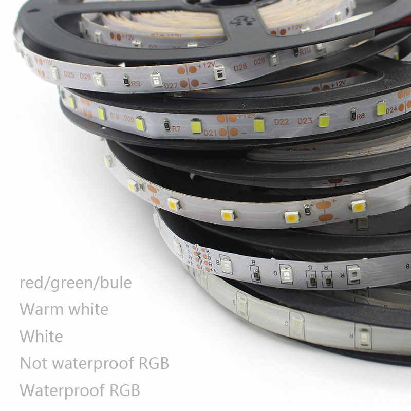 Tira de led impermeable 5 M 300 leds SMD 3828 blanco Azul Rojo amarillo verde RGB led tira de 12 v LED cinta cinta lámpara de decoración para el hogar