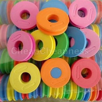 5 Pcs Colorful MultiColor Fishing String Bobbin Round Shaped Foam Hook Line Storage Spools Reel Tool Kits image