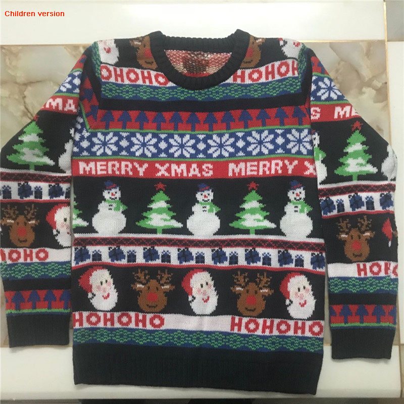 Funny Knitted Ugly Christmas Sweaters for Men and Women Cute Santa Claus Penguin Pattern Ugly Xmas Pullover Jumper Oversized 9 content