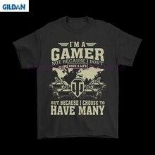 GILDAN Я геймер не потому, что у меня нет жизни мир майки