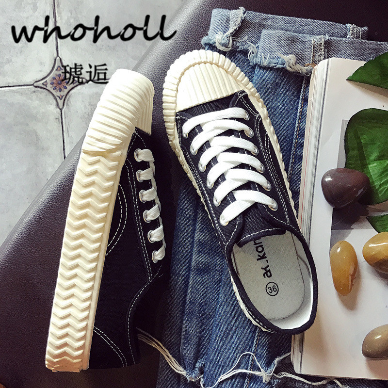 Whoholl 2018 New Fashion Women 39 s Shoes Vulcanize Shoes Spring Autumn Girls Casual Canvas Shoes Breathable Walking Shoes Tenis in Women 39 s Vulcanize Shoes from Shoes