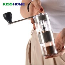 Hand-cranked Espresso Coffee Grinder Portable Washable Mini Beans Powder Ceramic Grinding Accessories