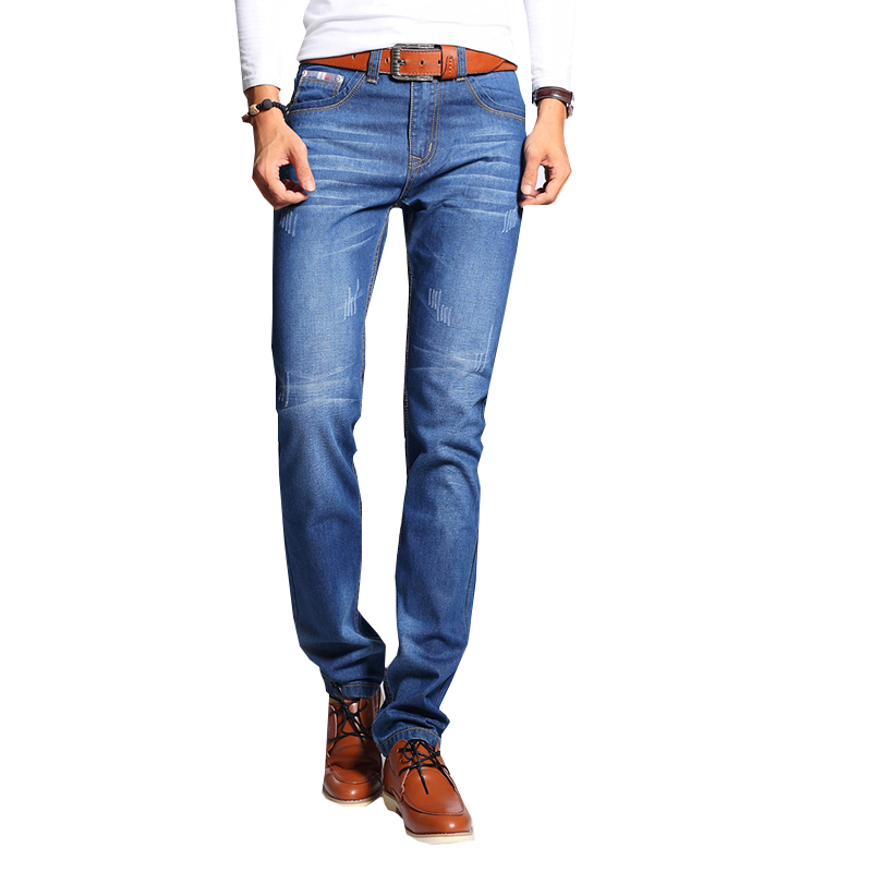 Jeans Men Levy Jeans Mens Skinny Jeans Brand Trousers Straight Male Pant Classic Solid Stretch Full Length  N-ZK066 toonies brand jeans men four seasons high quality straight full length blue hip hop jean male denim skinny men s jean pant homme
