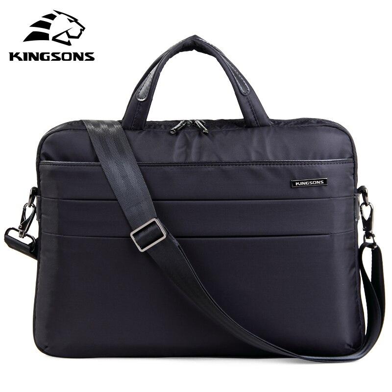 Kingsons marka 14.1 cal Notebook komputer Laptop moda wodoodporna torba dla kobiet torby listonoszki panie dziewczyny torebka w Torby z długim paskiem od Bagaże i torby na  Grupa 1
