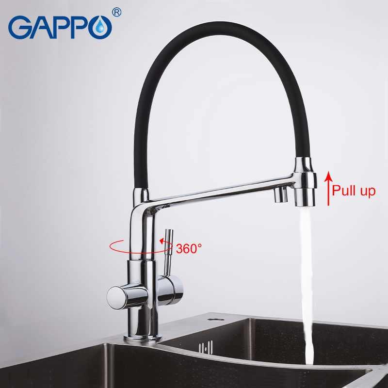 GAPPO G4398-7, кухонный кран, Фильтрованная вода, Черный кран и смеситель для кухонной раковины, кран для раковины, смеситель для воды, кран torneira cozinha