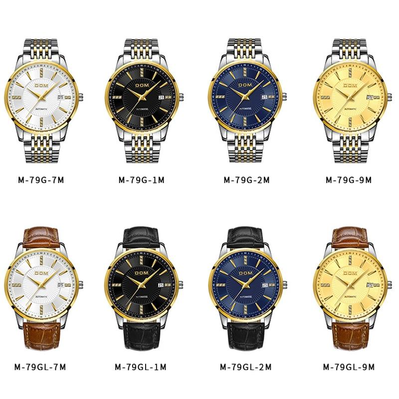 2018 Nuevo Relojes DOM Masculino Automático mecánico Reloj - Relojes para hombres - foto 6