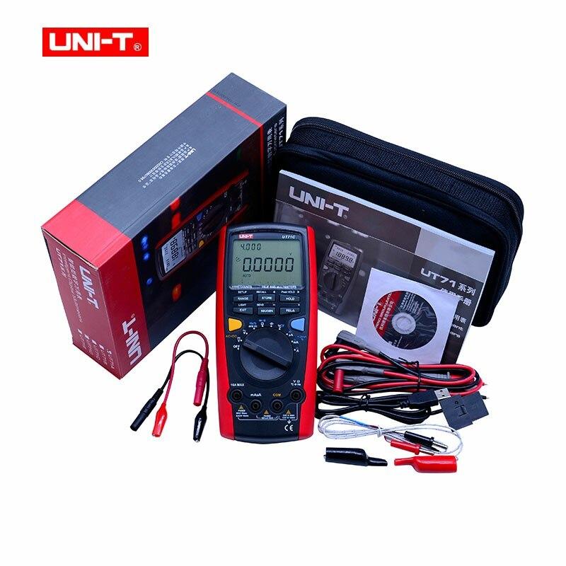 Multimètre numérique professionnel Intelligent LCD UNI-T UT71C AC/DC Volt ampèremètre/Ohm/capacité avec haute précision