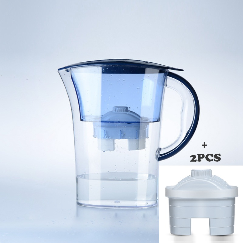 DMWD 2.5L 4 Layers Home Water Purifier Water Filter Kettle Healthy Drinking Water Maker Filter Jug With 2pcs Core dmwd 2 5l 4 layers home water purifier water filter kettle healthy drinking water maker filter jug with 2pcs core