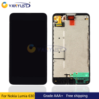 100 Tested For Nokia Lumia 630 Lcd Display Touch Screen Digitizer Assembly Black Replacement Free Shipping