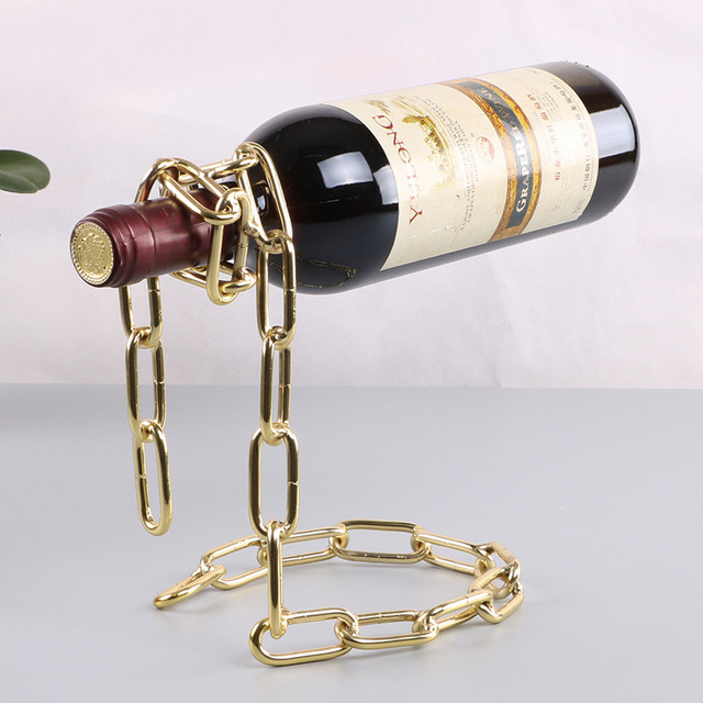 Magical Chain Or Rope Wine Bottle Holder 3