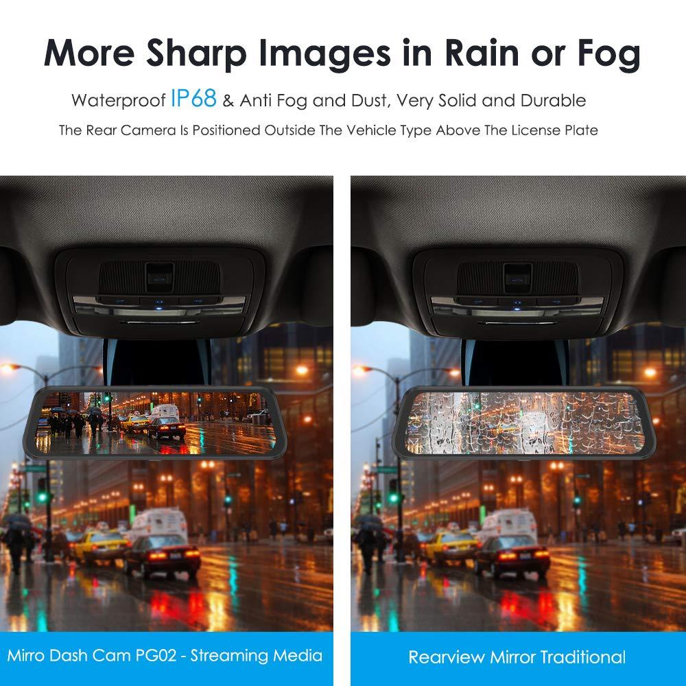 Image 5 - Azdome PG02 10 ミラータッチダッシュカムストリーミングメディア adas デュアルレンズカメラを反転ナイトビジョン  1080 1080p 車レコーダーためユーバー -    グループ上の 自動車
