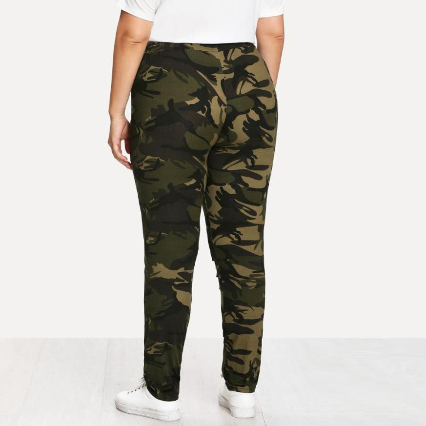 5c35118655167 Army Green Camouflage Leggings Women Plus Size 5XL Fitness Leggings  Clothing Print Hole Casual Sexy Workout Leggins Mujer Legins-in Leggings  from Women's ...