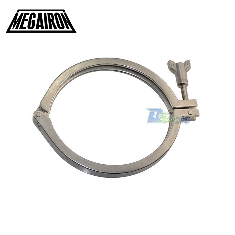 MEGAIRON 8 Stainless Steel SUS304 Sanitary Clamp Single Pin Tri Clamps Clover for Ferrule OD 232mm graphtec cb09 silhouette cameo holder 15pcs blades vinyl cutter plotter 60 degree wholesale price