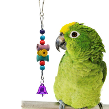 Chew Toys Bird Cage for Parrots Birds Pet Toy Play Bell Colorful Chain Accessories Home Decoration
