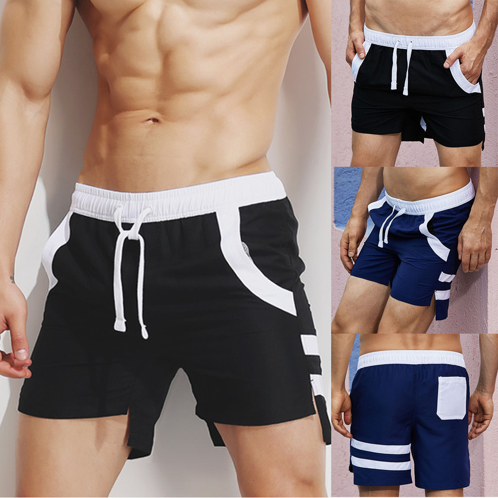 Sport Short Pants Men Lightweight Casual Short Pants Loose Elastic Sport Color Beach Surfing Short Pants L0319 For Improving Blood Circulation