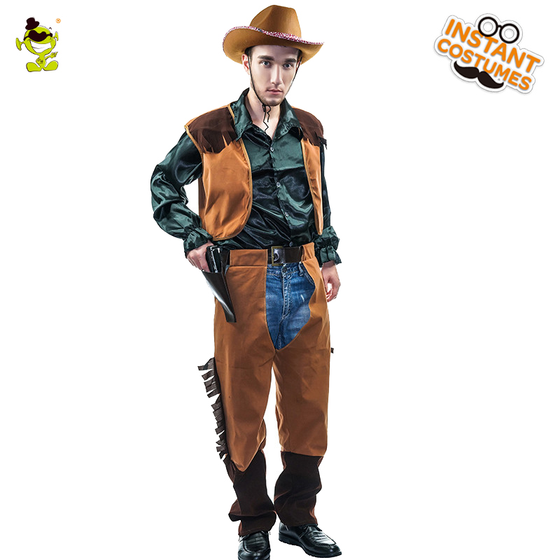 Adult Man West Super Cowboy Cosplay Costume Halloween Party  Performance Clothing  Cosplay Cowboy Costumes For Adult Man