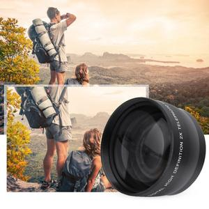 Image 3 - 2X 58mm Telephoto Lens High Definition Camera Telephoto Lens Optics Teleconverter For Cameras Accessories
