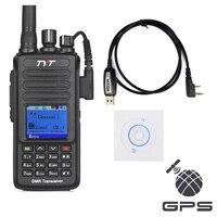 TYT MD-390 GPS UHF 400-480 mhz IP67 CHỐNG Thấm Nước DMR Radio Kỹ Thuật Số với Cáp Lập Trình và CD md390 2200 mAh Pin CTCSS/DCS