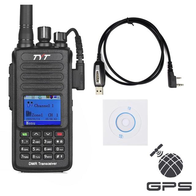 TYT MD-390 GPS UHF 400-480 мГц IP67 Водонепроницаемый DMR Цифровое Радио + Кабель для Программирования CD md390