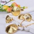 Новый стиль 24 К позолоченный Эфиопии ювелирные наборы Африканский/Эритрейских женщин ювелирные наборы Habesha аллергии A30044