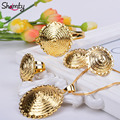 New style 24k Gold plated Ethiopian jewelry sets African/Eritrean women jewelry sets Habesha allergy A30044