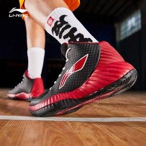 Image 3 - Li Ning Uomini di COMBATTIMENTO Sul Campo Da Basket Scarpe Da Indossare TUFF RB Medio Taglio Fodera Scarpe Sportive di Fitness Scarpe Da Ginnastica ABPP005 SJFM19