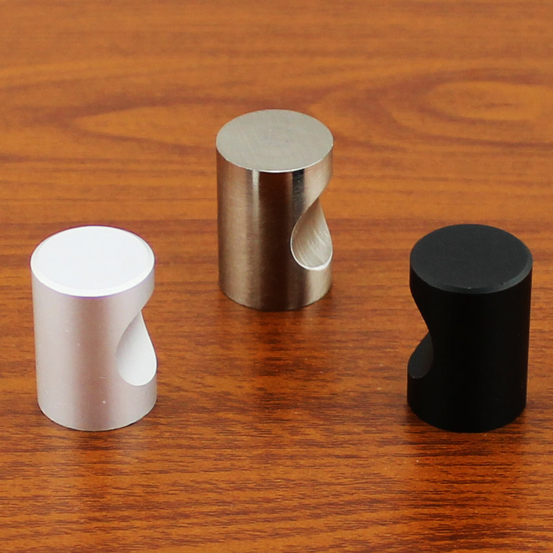 Furniture Drawer Chest Door Pulls Aluminum Knobs Handles Dia 18mm