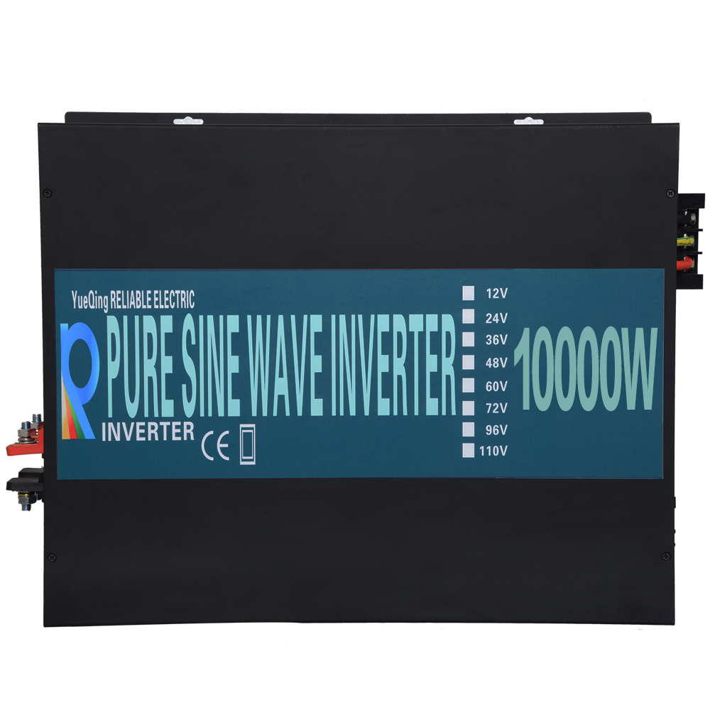 10000W Pure Sine Wave Solar Inverter 12V 220V Power Inverter Solar Panel Voltage Converter 24V/48V DC to 110V/120V/230V/240V AC 5000w pure sine wave solar inverter 12v 24v dc to 110v 120v ac 60hz car power inverter voltage converter tv motor refrigerator