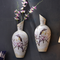 Stereoscopic Wall Hanging on The Wall Decoration Ideas Chinese Style Porch Sitting Room Corridor Wall Hang Vase Wall Decoration