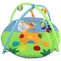 Quente Coloridos e Diferentes Padrões de Alta Qualidade de Algodão Macio Do Bebê Esteira do Jogo Ginásio Cobertor Veados com Quadro Rastejando Brinquedo Chocalho 2017