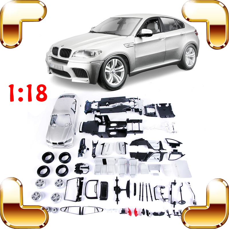 New Year Gift X6 M 1/18 Model Metal SUV DIY Piece Up Game IQ Training Collection Adult Present Family Work Decoration Toys Car new year gift rr 1 18 large model car metal vehicle suv car front decoration alloy luxury present men collection die cast toys