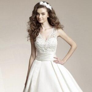 Image 4 - Fansmile New Vestido De Noiva White Lace Wedding Dress 2020 Plus Size Customized Wedding Gowns Bride Dress FSM 456T