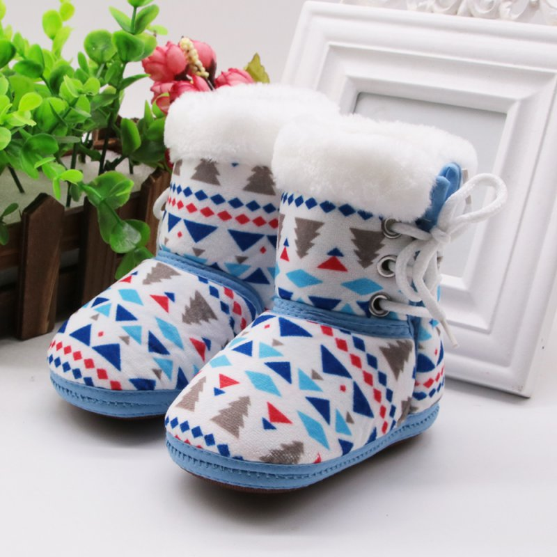 Warm Newborn Cute Snowshoes Baby Booties Infants Girl Boy Soft Crib Shoes Baby Boy Girl Warm Boots