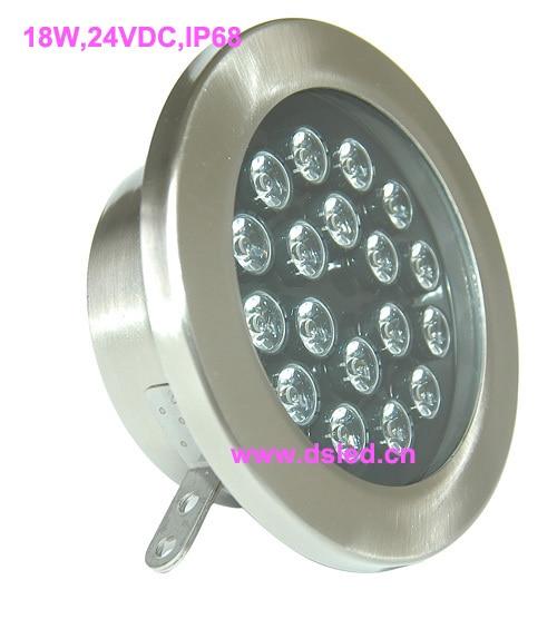 ФОТО CE,IP68,high power 18W LED underwater light,LED spotlight,stainless steel, EDISON chip,2-year warranty,DS-10-63-18W,24V DC