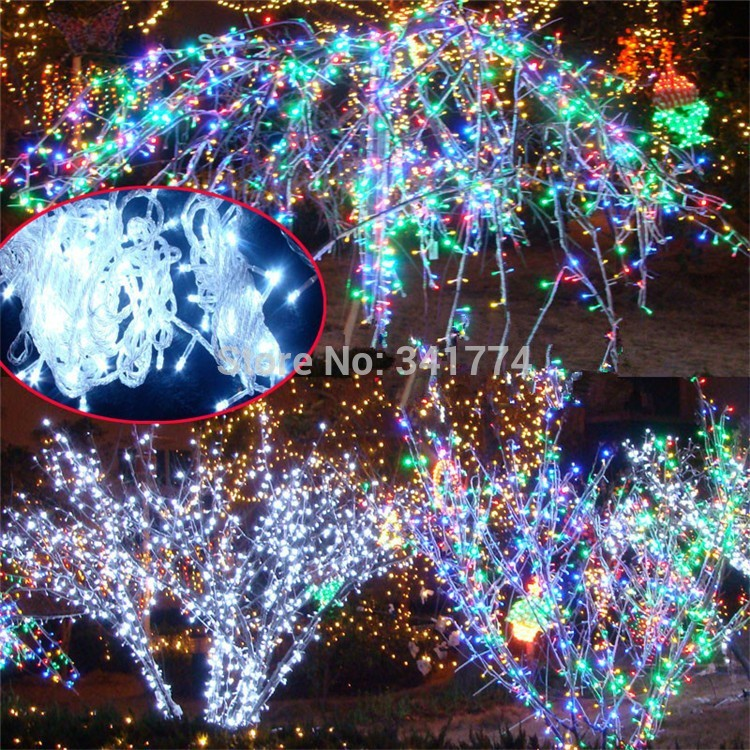 30 m LED String Lights Christmas Tree Lights Garland Curtain Chandelier for Holiday fairy Home Garden Outdoor Wedding Decoration 1 5x1 5 rgb led string christmas fairy lights luces decorativas led para fiestas curtain valance home wedding decoration garland