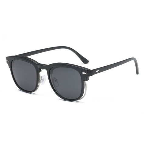5 in 1 Clip On Sunglasses with Polarized Mirror Flat Night Vision Magnetic Lens Clips Optical Myopia Glasses Prescription Islamabad