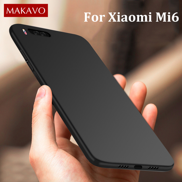 best service d9624 3a6ba US $4.27 |MAKAVO For Xiaomi Mi 6 Case 360 Protection Matte Soft Silicon  Cover For Xiaomi Mi6 Mi6 Phone Cases -in Fitted Cases from Cellphones & ...
