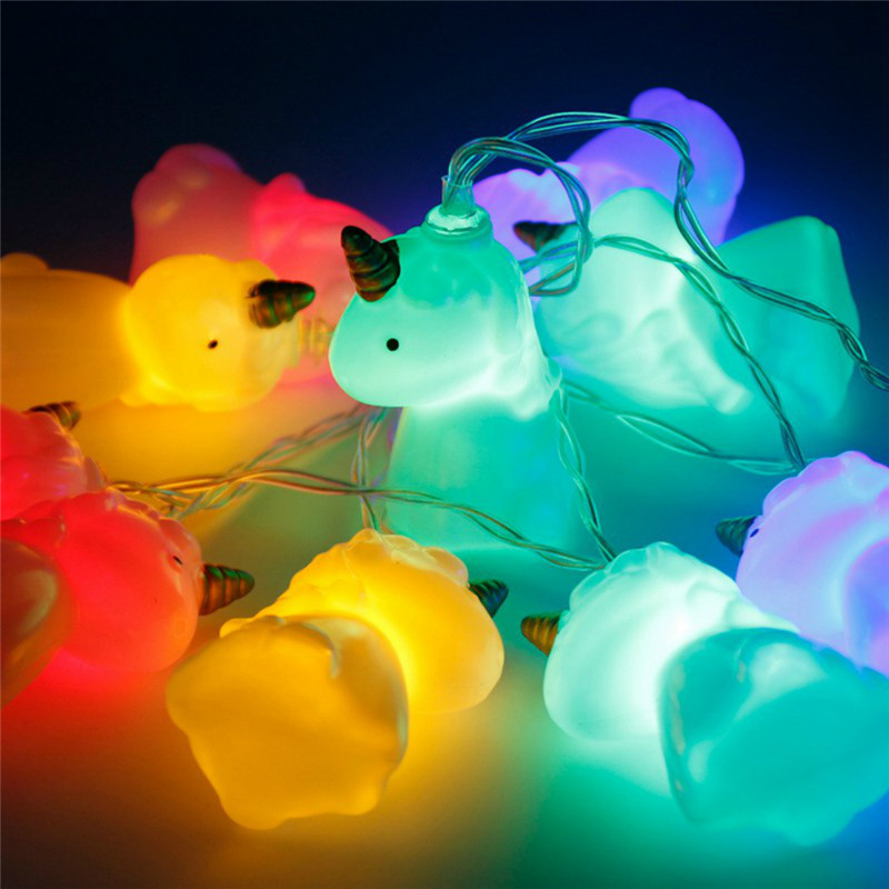 1.5M 10pcs LED Unicorn Lamp Battery Powered Colorful  String Light Night Light Toy Gift For Christmas Party Decorative Lamp H21.5M 10pcs LED Unicorn Lamp Battery Powered Colorful  String Light Night Light Toy Gift For Christmas Party Decorative Lamp H2