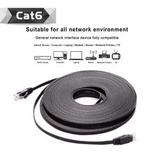 Pacote 10 20 m cabo 66FT CAT6 RJ45 Plano UTP Rede Ethernet Cabo LAN Patch cable