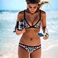 Saguaro 2017 novo projeto quente retro estilo brasileiro bathing swimsuit bikinis impressão sexy mulheres halter acolchoado feminino swimwear