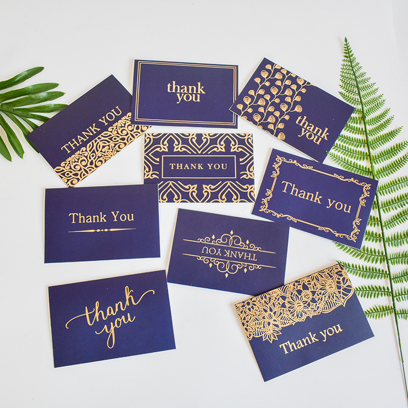 gilded letters thank you valentine's day card creative hot