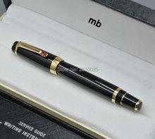 Luxury Bohemia series monte black resin roller ball pen best diamond school office supplies writing smooth mb brand pen gift box