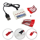 6 In 1 Battery Balance Charger + 12pcs Charging Cable for UDI U32 U45 U42 U42W U28W U818A SYMA X5SC X5SW X5HW X54HW X5UC X9