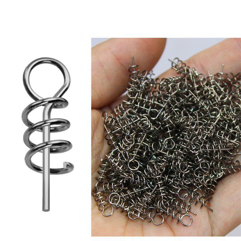50-100 Pcs Pesca Fising Lure 14 Mm Fishing Tackle Spiral Fishing Lure Steel Spring For Crank Hook Lead Soft Bait Fishing Gear
